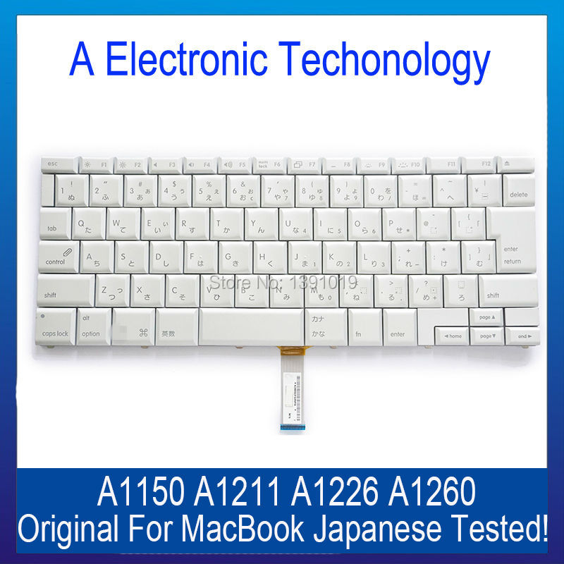 "Original A1150 A1211 A1226 A1260 Laptop Japanese Version Keyboard For Macbook Pro Retina 15"" 15.4"" Replacement Tested(China (Mainland))"