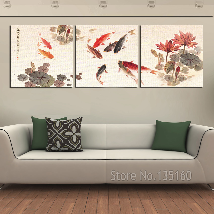 3 Piece Wall Art Picture Traditional Chinese Calligraphy