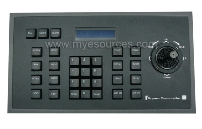 Wholesale 2D CCTV control keyboard PTZ LCD display 2D rocker easy to control Alarm switch RS485/RS232/RS422 PTZ CCTV keyboard(China (Mainland))