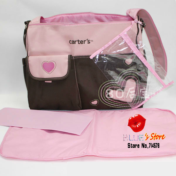 carter's mummy bag pink flowers baby diaper lovely big floral nappy fashion - Blue's Store store