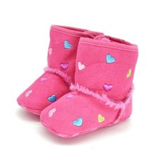 0-18M Winter Warm Shoes Toddler Kids Baby Girls Soft Sole Crib Shoes Zip Anti-slip Boots