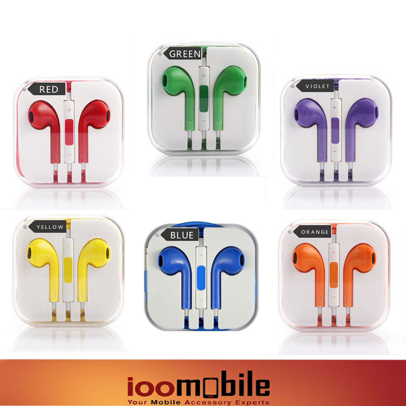 Free shipping 2015 High Quality 3.5mm in ear Mic colour Headphones Headsets Earphones For Samsung Iphone 5/5S/6 Media Player(China (Mainland))