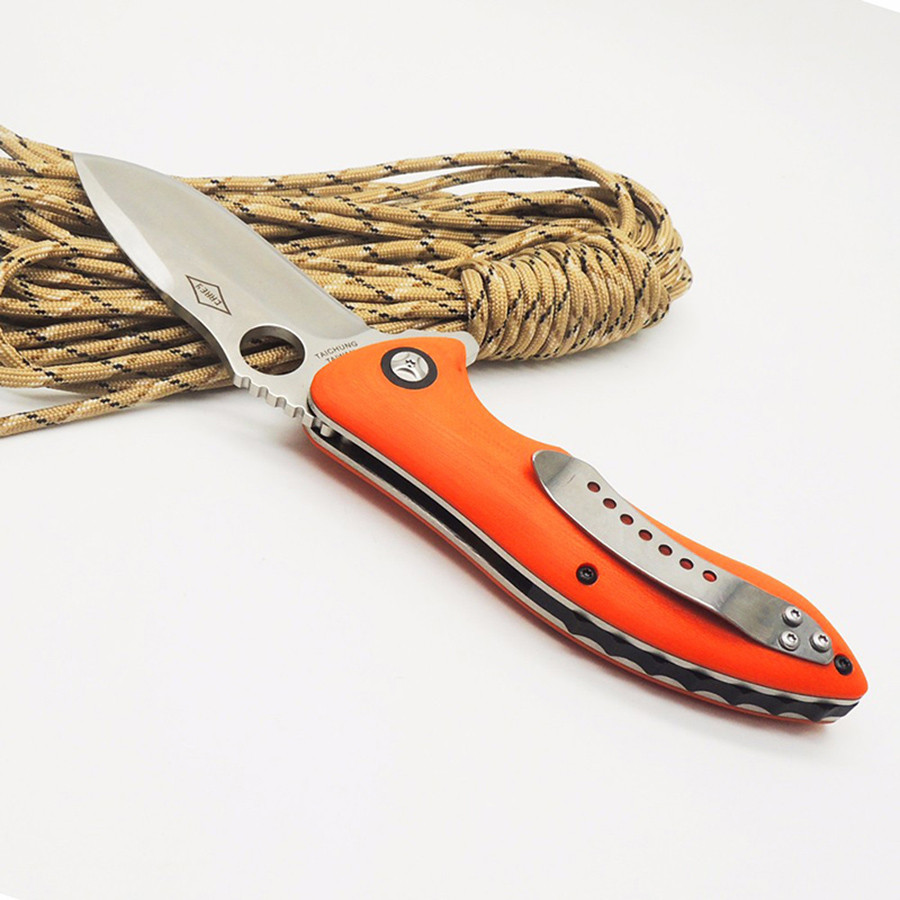 Buy WTT C187 Folding Knife With CPM S30V Blade 2 Colors G10 Handle Combat Tactical Knife Outdoor Camping Utility Knife EDC Tools cheap
