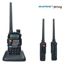 Pofung/Baofeng UV-5RE Plus Talkie Walkie Dual Band Two Way Radio UV 5RE 5 W 128CH UHF VHF FM VOX Double Affichage radio comunicador(China (Mainland))