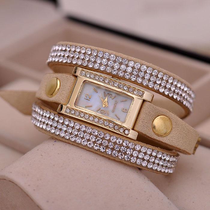 Relojes mujer ювелирные изделия браслет часы женщины платье стразы кварцевый