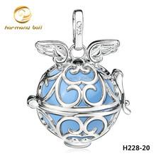 H228-20 platine plaqué cuivre harmonie balle ange appelant pendentif pour les femmes enceintes mode flottant médaillon ange ailes pendentifs(China (Mainland))