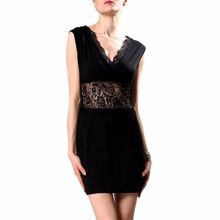 Buy Elegant Sexy Bandage Women Dress Black Sundress Tunic Clothing Clothes Female Vestidos Vestido De Festa Renda Robe Femme 2016 for $8.12 in AliExpress store