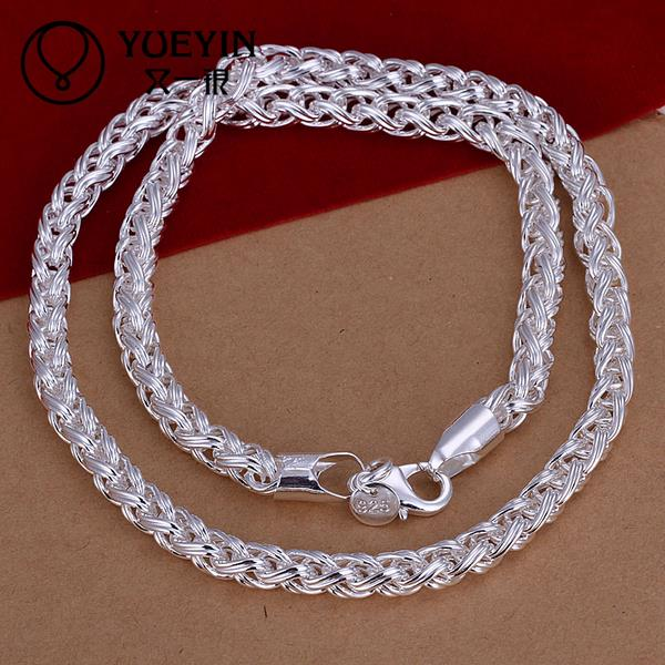 Hot Sale Factory Price N083 hot brand new fashion style popular 925 silver chain necklace jewelry Free shipping(China (Mainland))