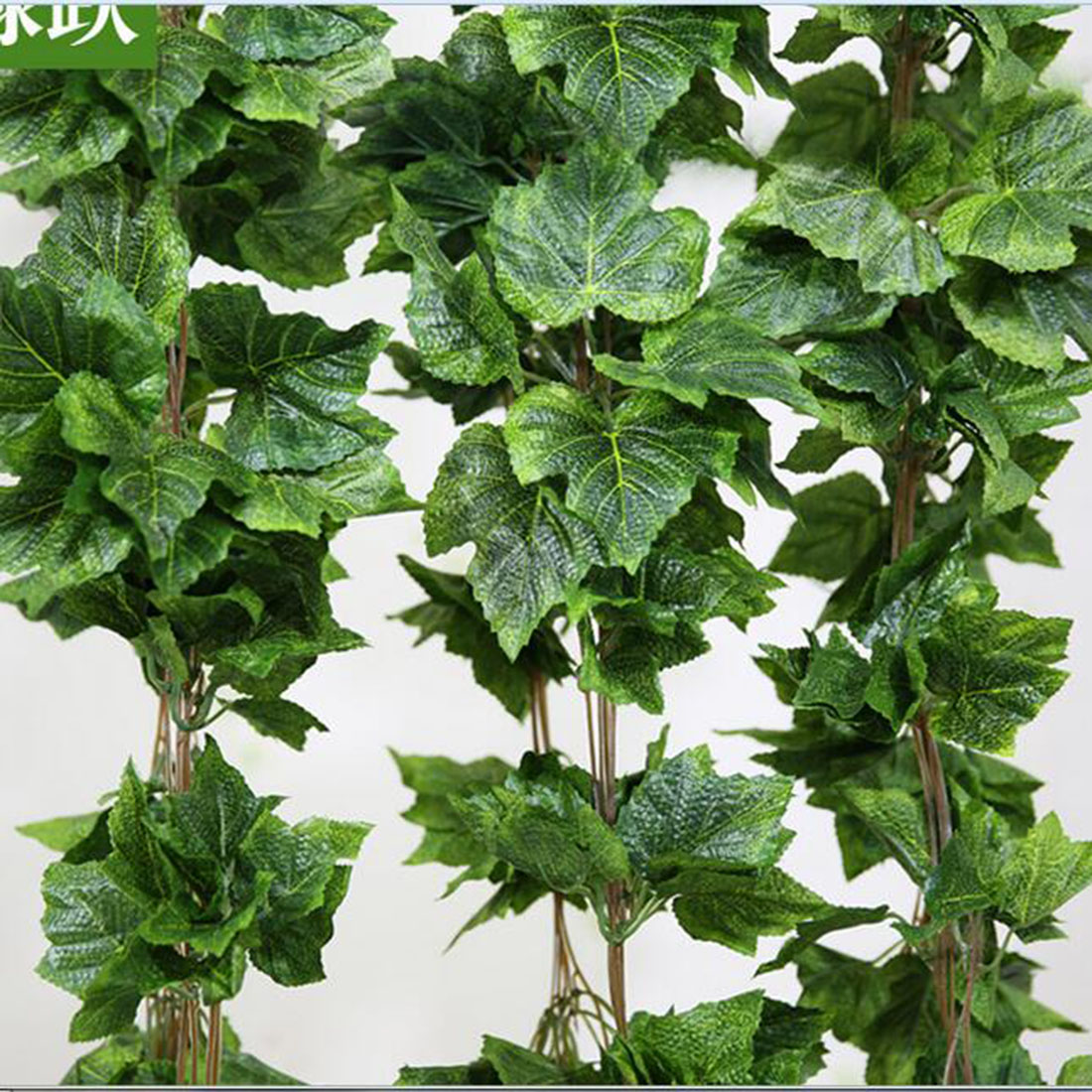 Home Decor Fashion Decorative Flowers Artificial grape leave Leaf Garland Plants Bunch Fake Foliage  -  Super sweetheart store store