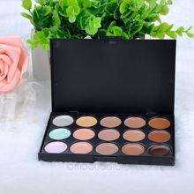 New Professional 15 Colors Concealer Camouflage Makeup Neutral Palette Salon/Party/Wedding/Casual X-MPJ034