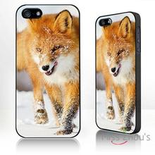 For iphone 4/4s 5/5s 5c SE 6/6s plus ipod touch 4/5/6 back skins mobile cellphone cases cover Fox in the snow