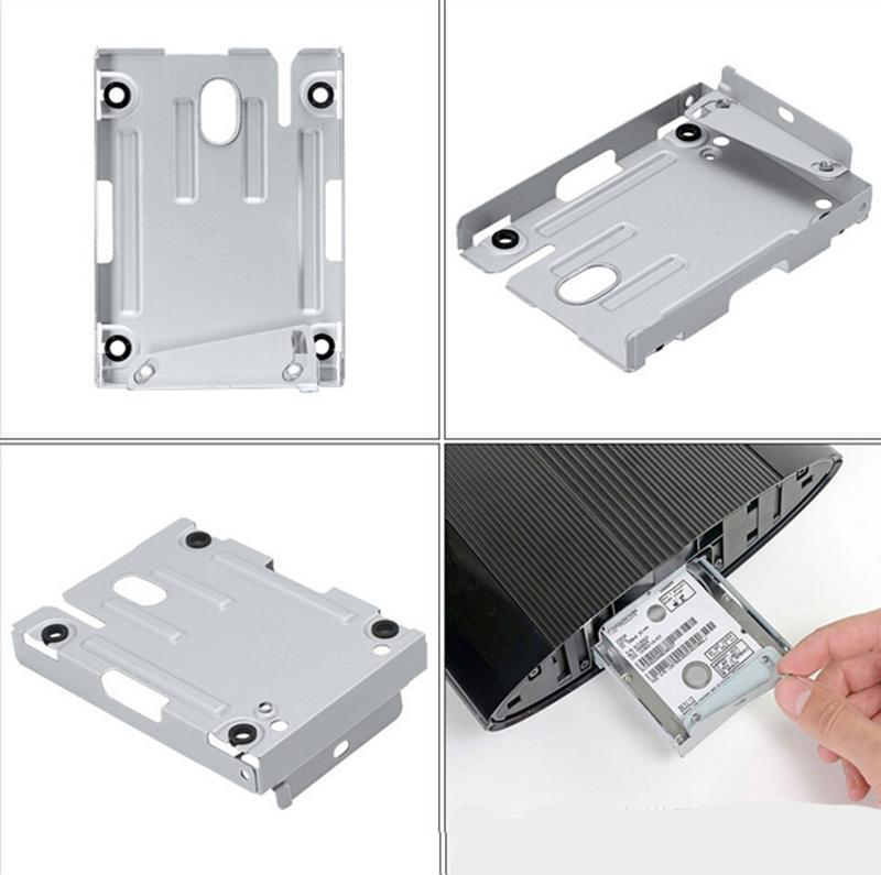 Electronic Components Bracket PC Hard Disk Drive Tray HDD Mounting Bracket for PS3 Super Slim + Screws
