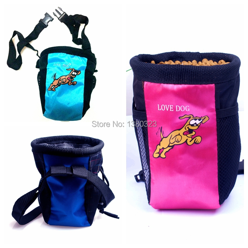 Dog pet Training Treat Bag Feed Pouch w. belt & side pockets f. Mobile phone 3 colors Choice(China (Mainland))