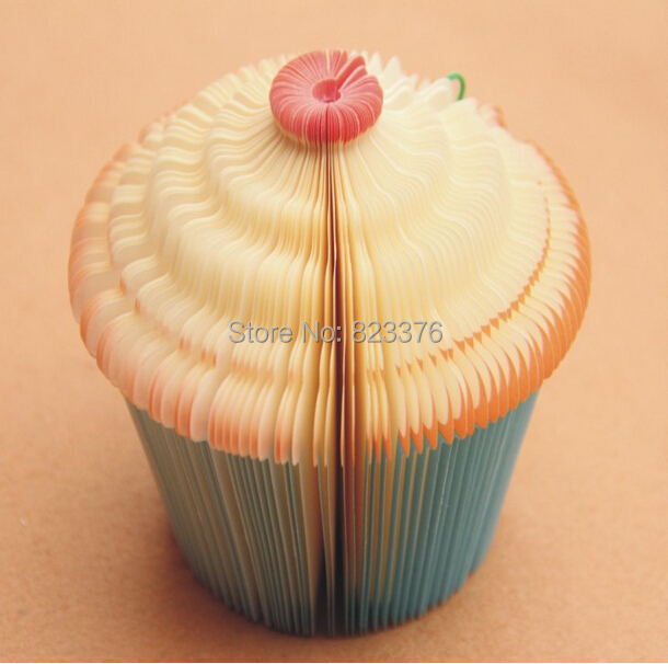 DHL Freeshipping 200pcs 3D Cupcake Fairy Cake Shape Note Memo Pads Paper Notepads Fruit notepad Novelty Paper Cute Note Notepad(China (Mainland))