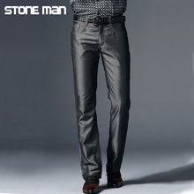 New Men Pants Business Men's Demin Trousers Casual Thin Long Pants Wash Wear Trousers For Man Clothing Size Plus 39-42  WM002