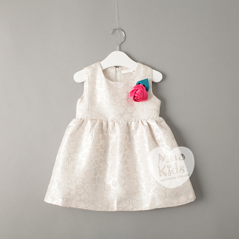 2015 kids girls silk fabric dresses baby girl autumn for Kids dress fabric