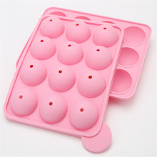 New Creative 12 Cups Roll Ball Shape DIY Lollipop Molds Chocolate Silicone Mould Kitchen Accessories