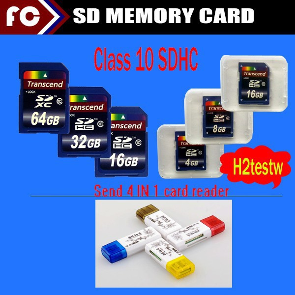 2015 Transcend 600x 32GB 64GB SD Card 32 gb SDHC Memory Card Class10 UHS For Digital Camera Camcorder Recorder +card reader(China (Mainland))