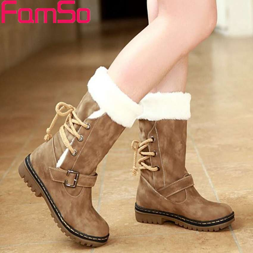 Free shipping 2016 New Shoes Women Boots Designer Ladies Winter outdoor keep Warm Fur Boots Waterproof Women's Snow Boots(China (Mainland))