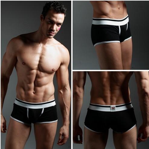 2015 100% algodón ropa interior Sexy hombres Boxer negro XUBA Trunks shorts, multi-color elegir(China (Mainland))