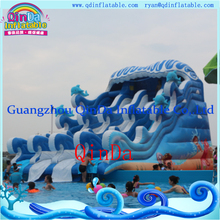 QinDa inflatable wave water slide giant inflatable water slide for adults and kids(China (Mainland))