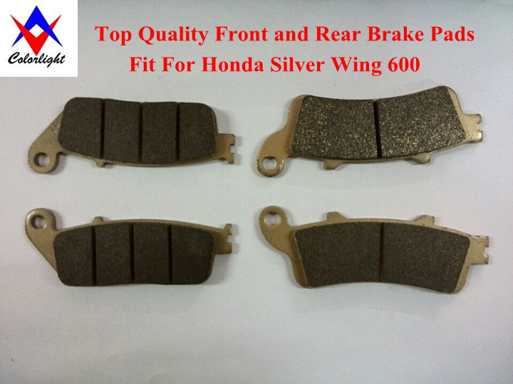 Motorcycle Front Rear Brake Pads Metal Fit Honda Silver Wing 600 2003 year Two Pairs Drop Ship - Colorlight Center store