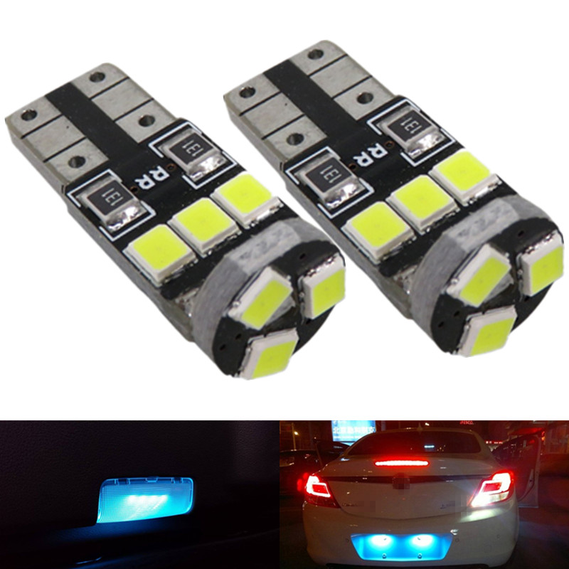 Ice Blue Pure White 2835 Smd T10 W5w Car Led Interior Light Package For Honda Accord Coupe 1998