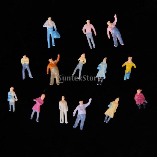 Free Shipping New 100pcs Painted Model Train HO People Figures (1 to 150)