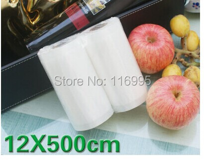 Free Shipping 1pcs 12X500CM Food cooking bags plastic bags masklike bags channel vacuum packaging bag 12x500cm(1 roll 1pcs)(China (Mainland))