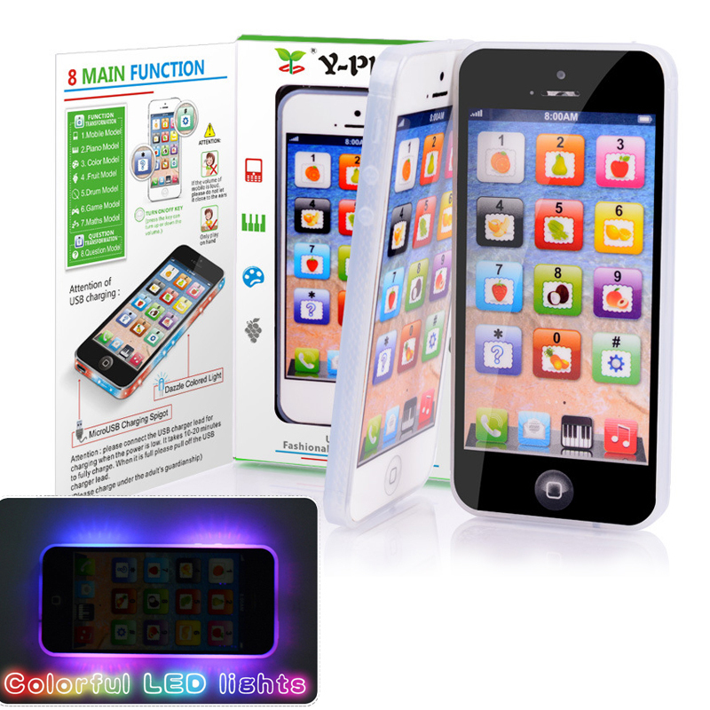 Y-phone English Learning Mobile Phone with LED Child Kid Toy Cellphone Baby Mobile Early Educational Puzzle Toy Electronic Phone(China (Mainland))