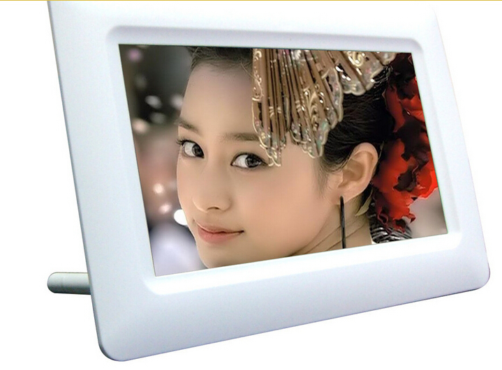 7Inch TFT LCD Digital Photo Movies Frame Wide Screen Desktop With LED Light Flash MP3 MP4 Player Alarm Clock(China (Mainland))