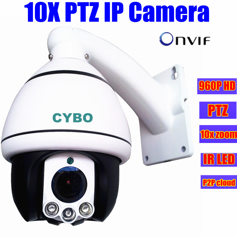 PTZ security IP Camera 960P 1.3MP HD onvif Network array led 10x optical zoom CCTV mini PTZ Speed Dome surveillance ip Camera<br><br>Aliexpress