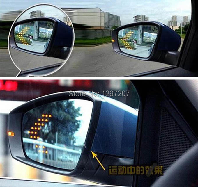 Multi-curvature blue wide angle led arrow turn signal heat defog door rear view mirror for nissan teana altima exterior parts
