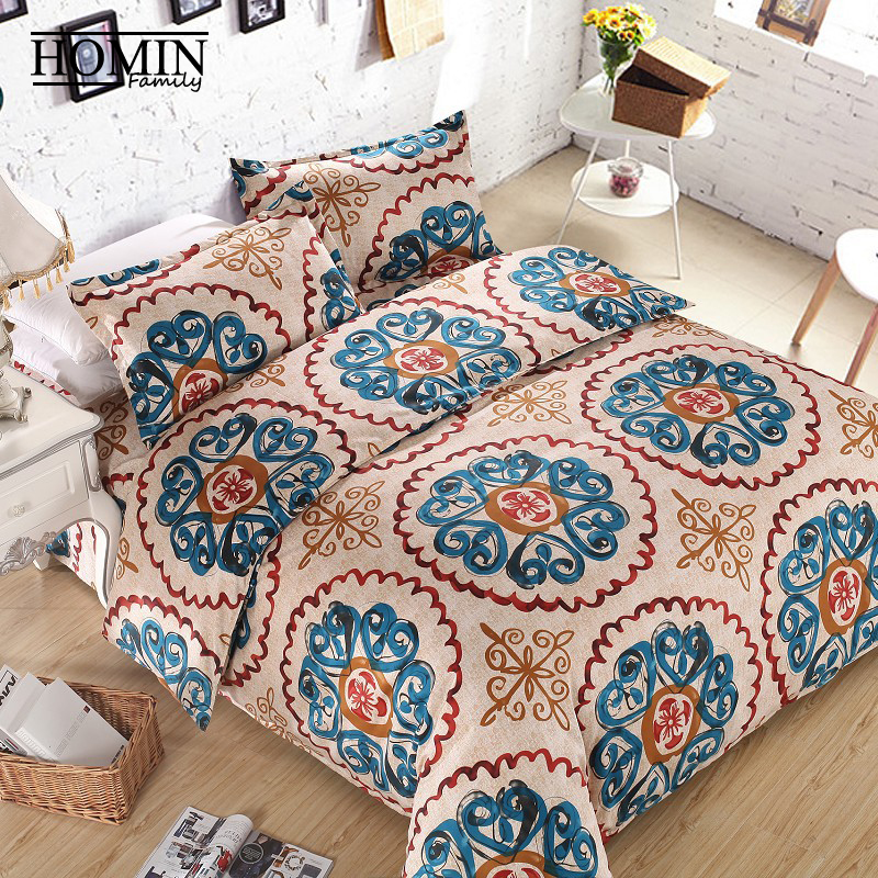 micosoft with Cotton Bohemia Bed Bedding set cama bed cover sheet strip design ,Full/Queen/King Size /Free Shipping/BS0030-1(China (Mainland))