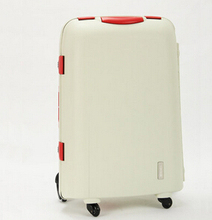 High Quality Male Female PP Travel Luggage Suitcase White Green Cases 18 22 and 28 Inches Trunk(China (Mainland))