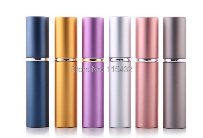 300pcs Wholesale Fashion Refillable Empty Atomizers Travel Perfume Bottles Spray Makeup Aftershave Metal Bottle 5ML Free Ship