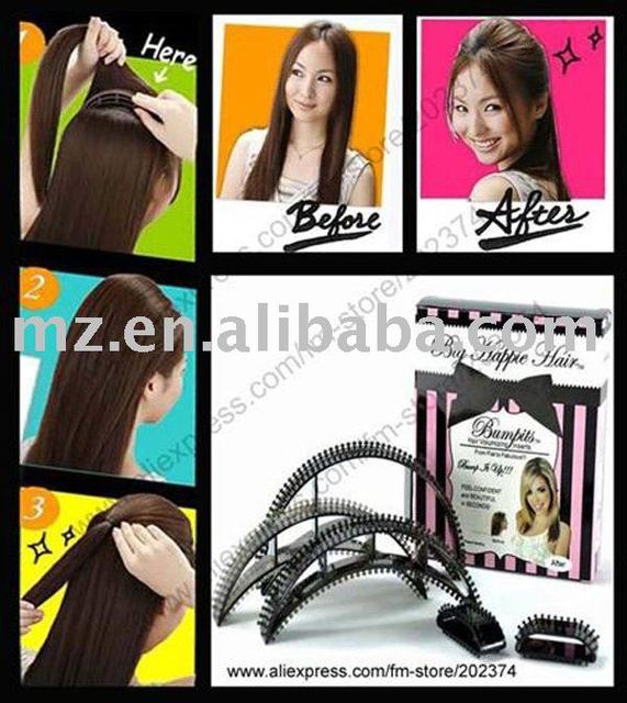 Free shipping Hot Sale 5 in 1  36 sets / lot  As Seen on TV Bumpits Hair Styling Tools