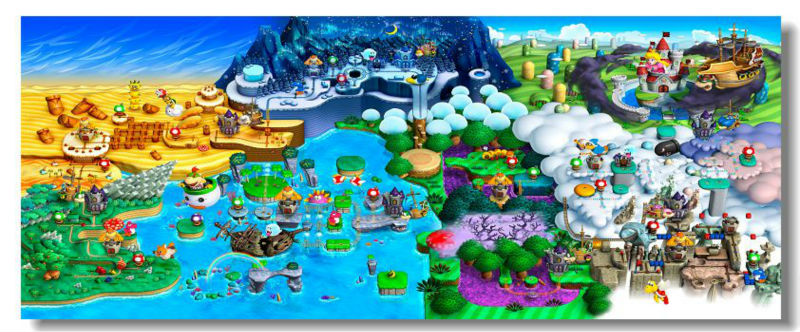 New super mario bros u world map quiz by dlspartan93 acorn plains gumiabroncs Image collections