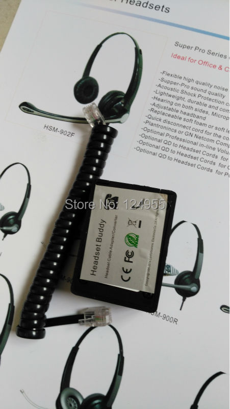Dual RJ9 Female Jack for Phone Headset to Dual 3.5mm Male for Nortel Polycom IP Phone(China (Mainland))