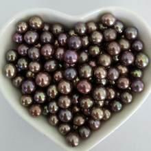 Großhandel 6-8MM Lose Perlen für Oyster AAA Grade Charme Farbige Süßwasser Perle Perlen 39 Farben Erhältlich PL335(China)