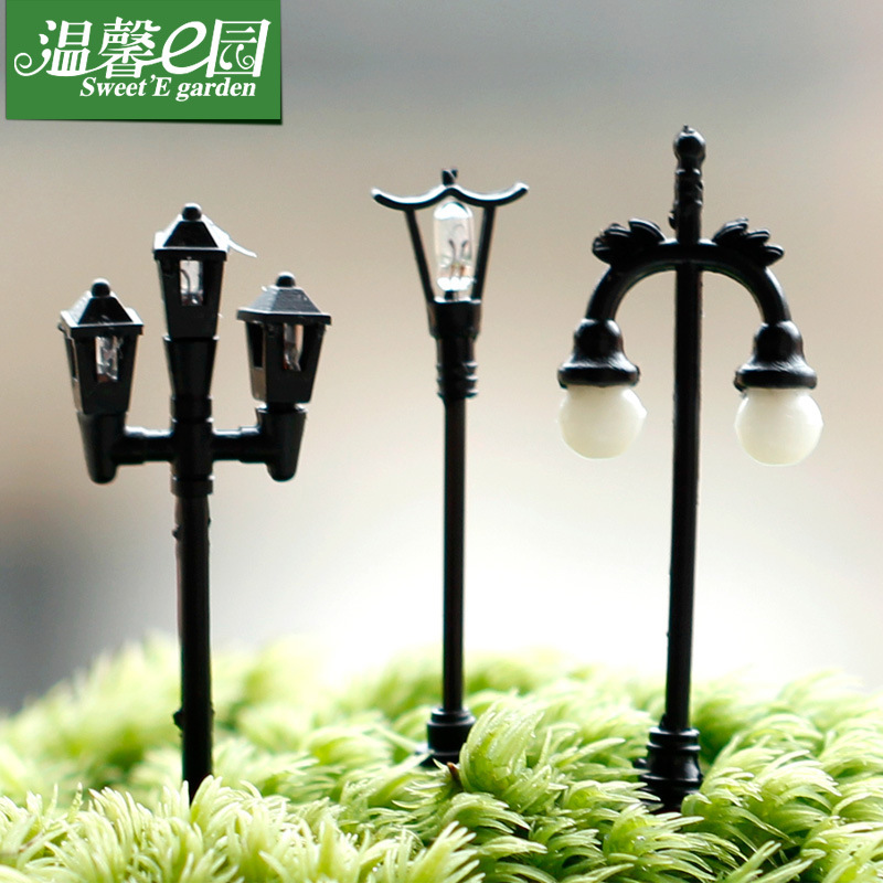 Lovely fashion Micro landscape decoration Street lamp DIY assembly furnishing building crafts furniture toy DIY accessories(China (Mainland))
