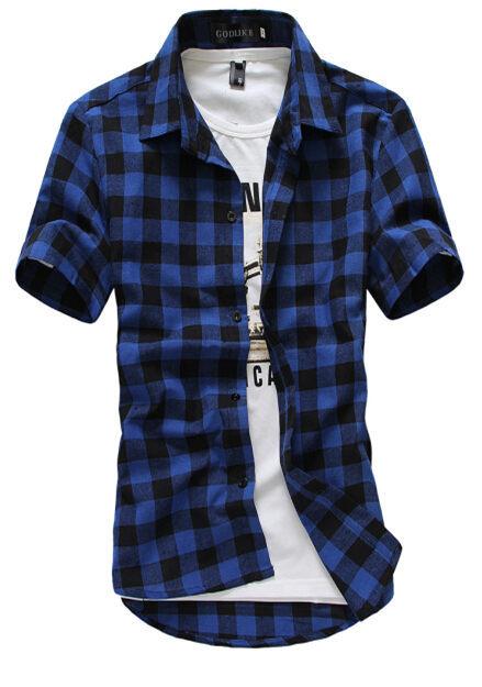 2016 homme for Mens black plaid dress shirt