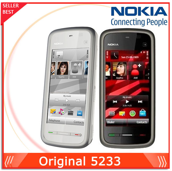 Original Nokia 5233 Mobile phone 3.2inch Touchscreen Unlocked 5233 Cell Phone Free Shipping(China (Mainland))