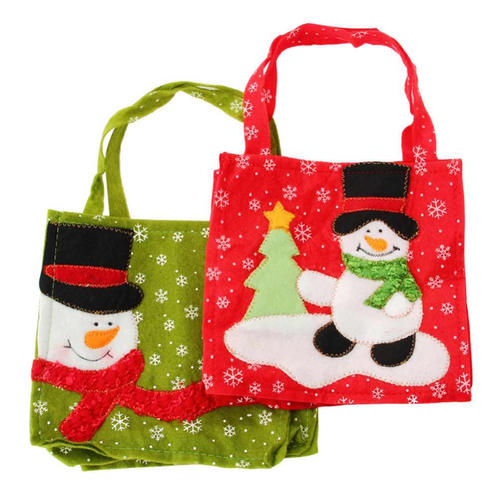 Buy santa claus candy bags christmas for Bag decoration ideas