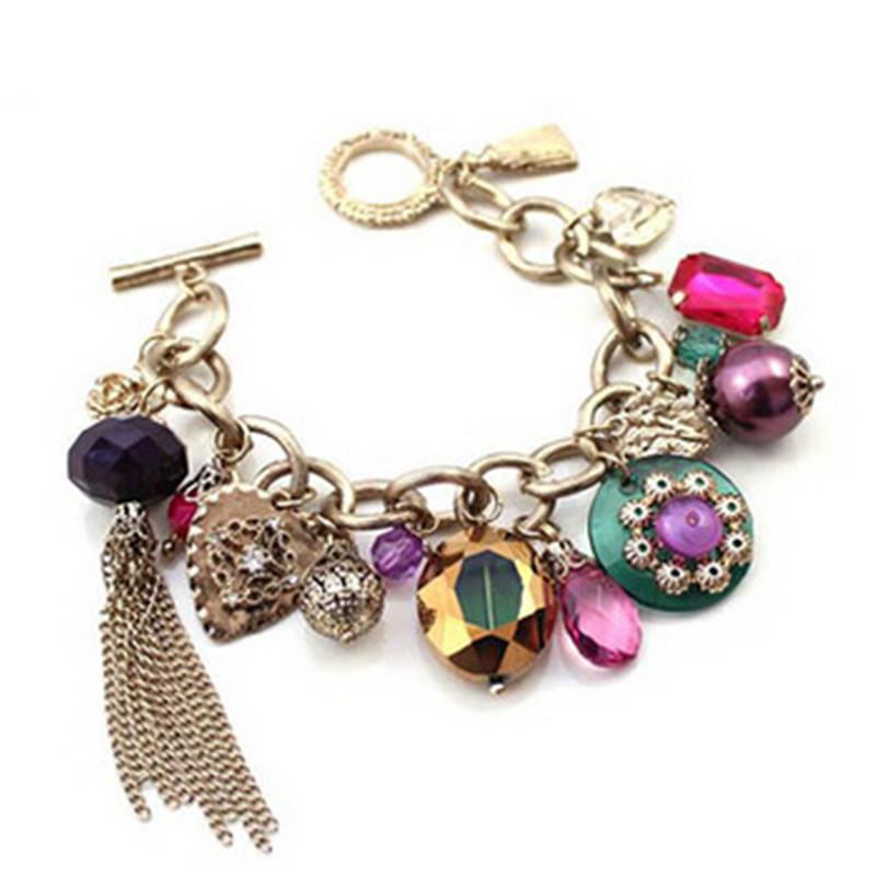 New Design Personalized Bohemian Style Beaded Tassel Charm Bracelets Fashion Jewelry For Women