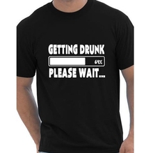 Buy Getting Drunk 69% Please Wait T-Shirts Beer Stag Party Gift Funny Mens T Shirt European Size Cotton Short Sleeve Tees Camisetas for $9.99 in AliExpress store