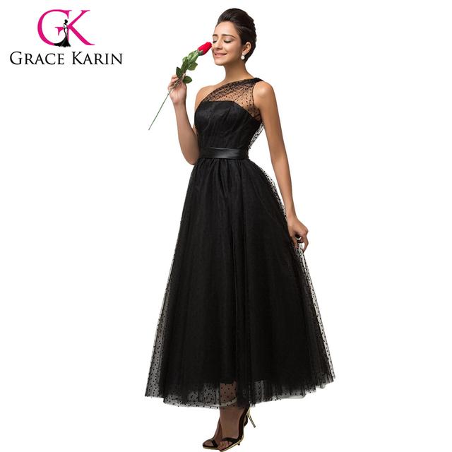 2016 грейс карин бальное платье с длинным черное вечернее платье мягкого фатина одно ...