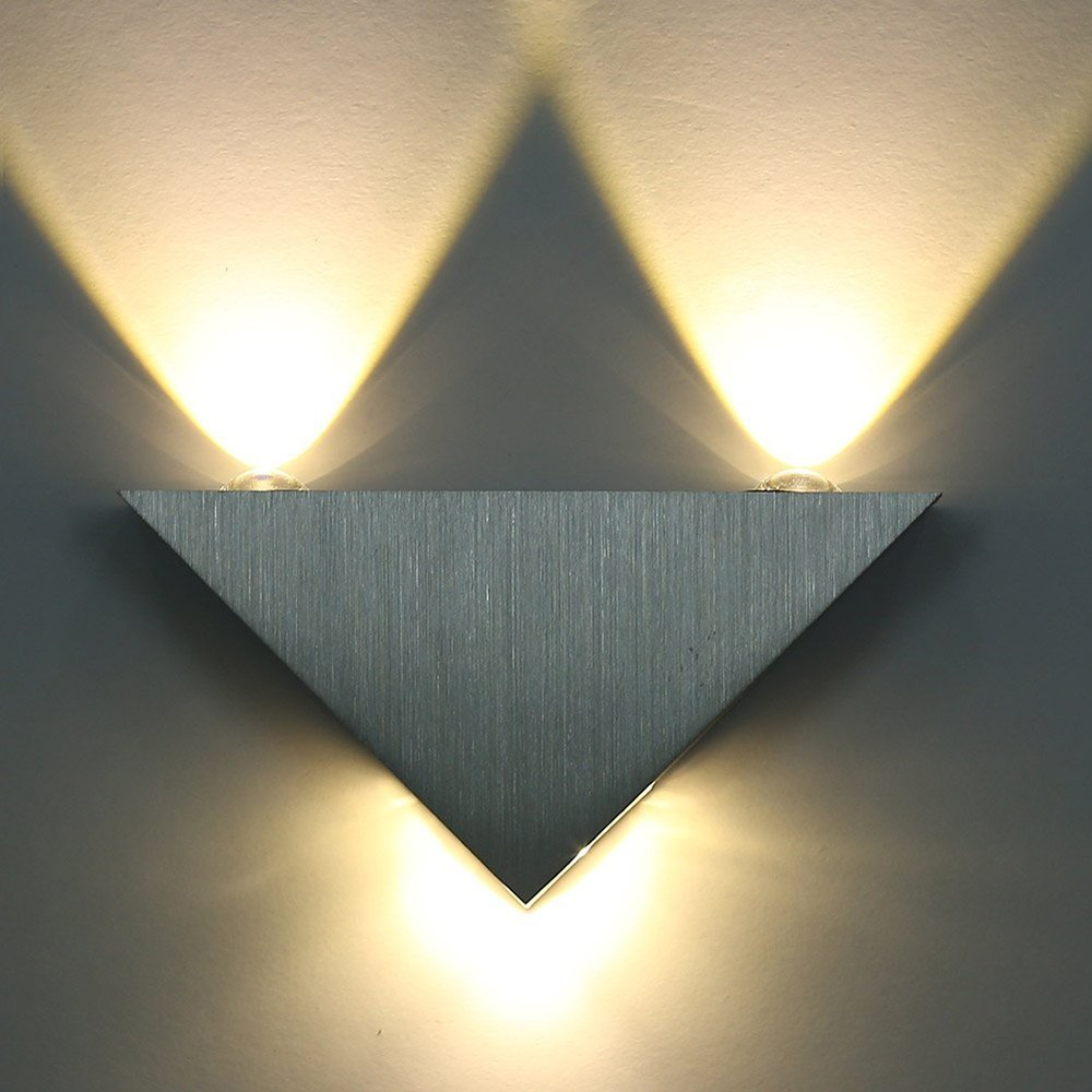 Home Lighting 2W LED Wall Light Lamp 85-265V Triangular LED Wall Spot Lamp Indoor Bedroom Hallway Kitchen Warm White & White