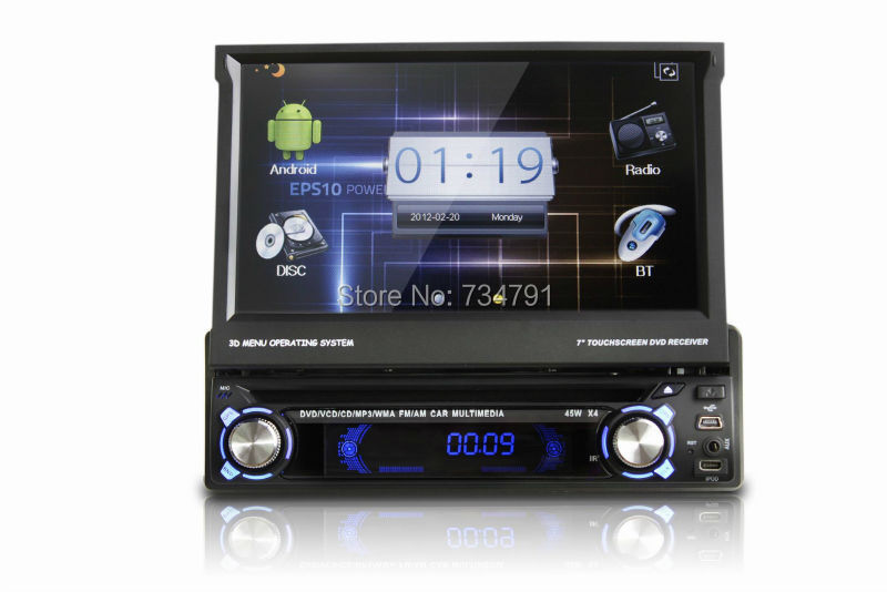 1 din Android 4.0 car dvd Player with GPS Car Radio 7 inch WIFI 3G 3D UI PIP SWC BT IPOD TV USB/SD(China (Mainland))