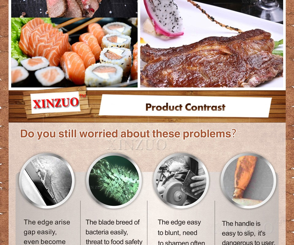 "Buy XINZUO 7"" inches santoku knife Japanese VG10 Damascus kitchen chef knife Japanese chef knife wood handle FREE SHIPPING cheap"